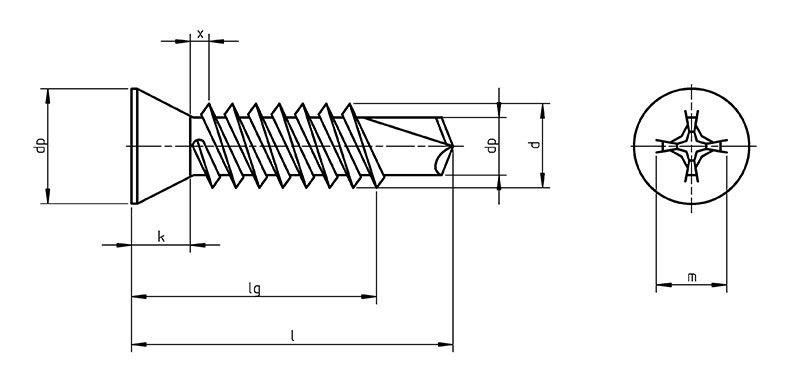 DIN 7504 P Self Drilling screws