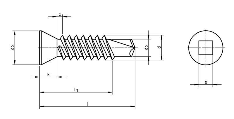 DIN 7504 Psq Self Drilling screws