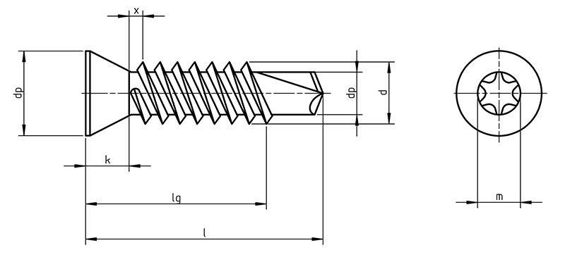 DIN 7504 Ptx Self Drilling screws