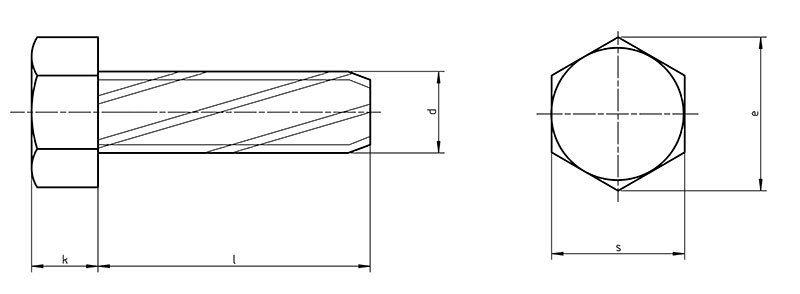 DIN 7513A Hex tapping screws A with hexagon head