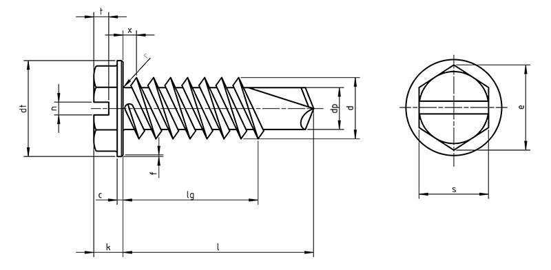 DIN 7513B Hex tapping screws B with cylinder head and slot