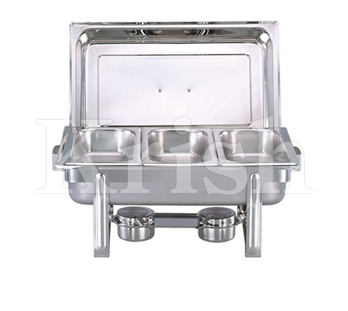 Economy Chaffing Dish w 3 Partition