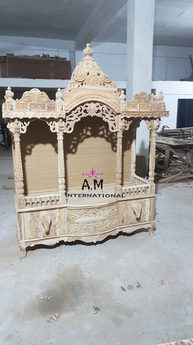 king size teak wood pooja mandir