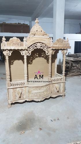 king size teak wood pooja mandir