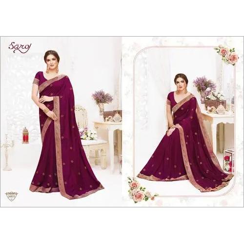 Elegant fancy silk saree