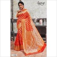 Bold designer Banarasi silk saree