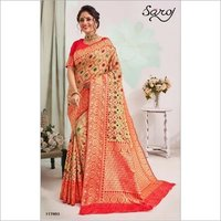Designer heavy patola silk saree