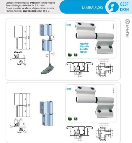 3D Adjustable Door Hinges