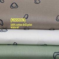 Mission 100% cotton drill print