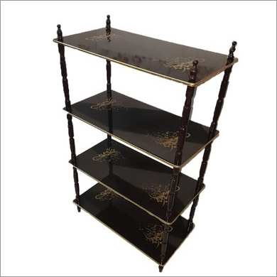 4 Shelf Wooden Rack