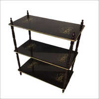 3 Shelf Wooden Rack Table