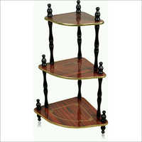 3 Shelf Wooden Step Corner