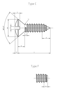 DIN 7973  Slotted raised countersunk head tapping screw