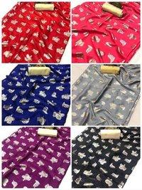 gangoli printed silk saree