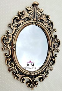 antique oval shape mirror frame