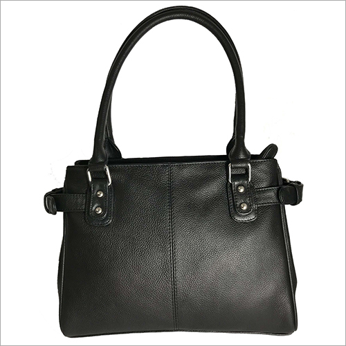 Ladies Black Leather Hand Bag
