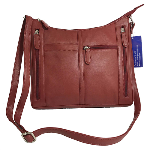 Ladies Tan Brown Leather Sling Bag