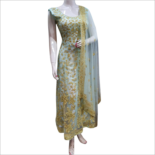 Ladies Party Wear Floor Length Suit