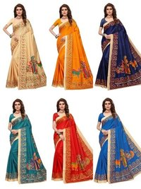 designer kalamkari printed saree