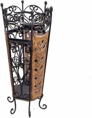 wrought iron flower stand