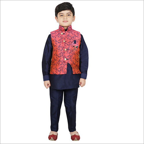 Boys Kurta Set With Jacket