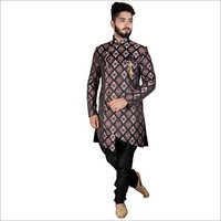 Men Printed Indo Western Suit