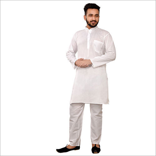 Men Plain Kurta Pajama Set