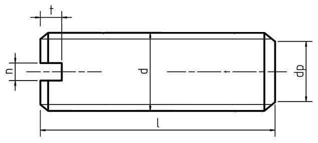 DIN 551 Slotted set screw