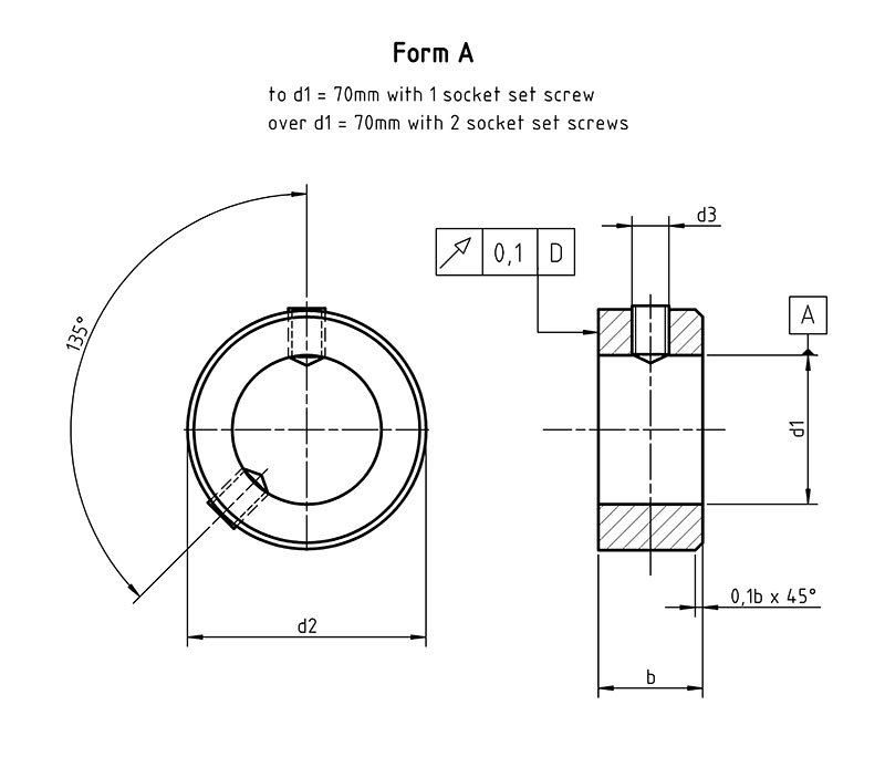 DIN 705A Adjusting rings with set screw