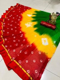 chiffon badhani cotton silk saree
