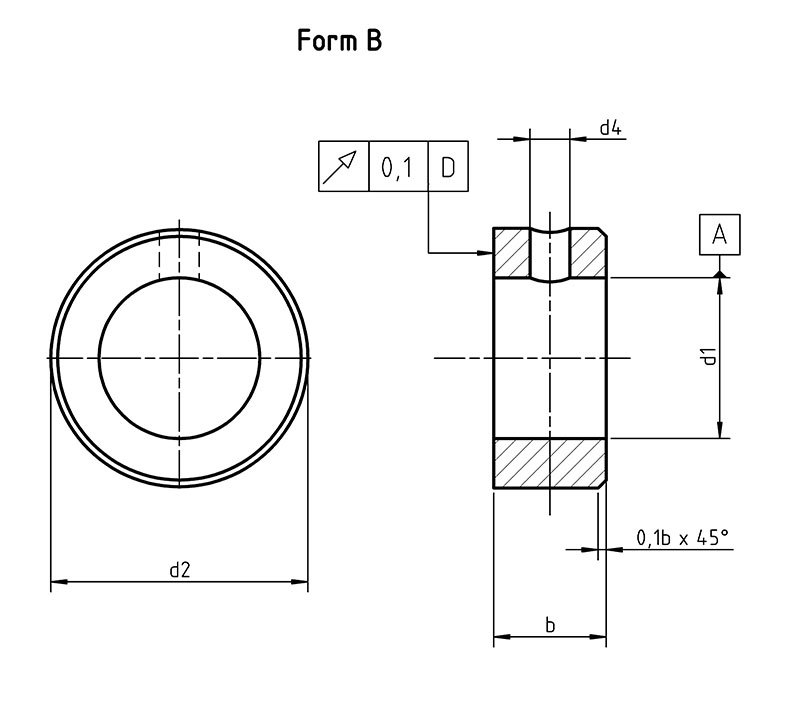 DIN 705B Adjusting rings with set screw
