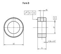 DIN 705B Adjusting rings with set screw