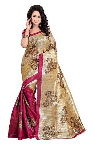 new bhagalpuri jamkhudi magenta saree