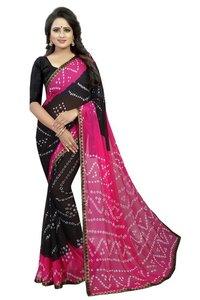 chiffon bhandhni silk saree