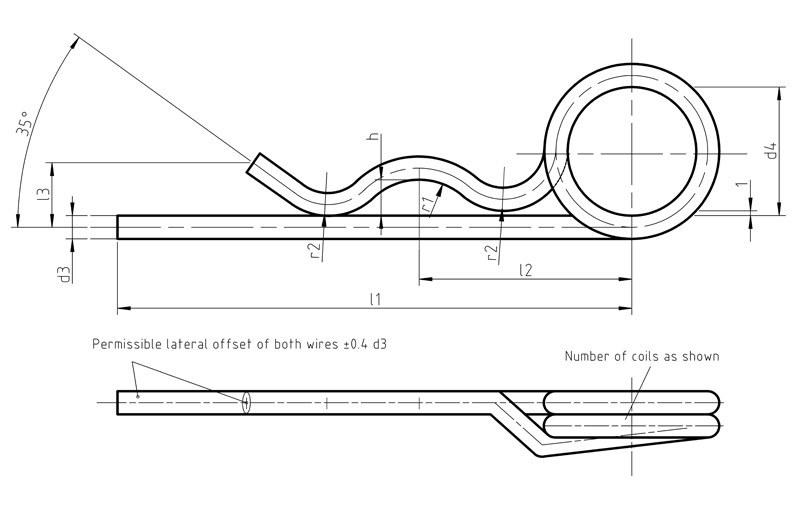 DIN11024 D Spring cotter for bolts
