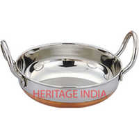 Copper Bottom Stainless Steel Kadai