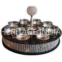 Crystal Black Lazy Susan