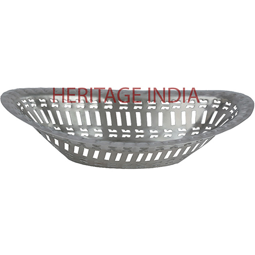 Stainless Steel Oval Bread Basket