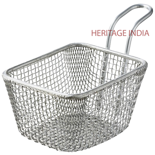 Mini Stainless Steel Serving Basket
