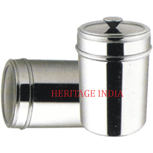 Stainless Steel Canister With Knob
