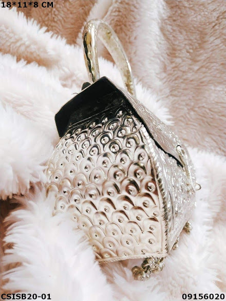 Beautiful and elegant Silver Brass clutches