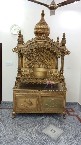 antique gold wooden wooden temple