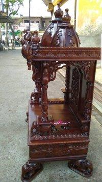 teak wood designer temple