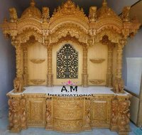 king size wooden temple