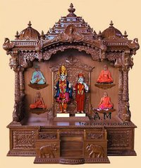 pooja cabinet wooden temple