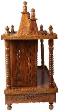 hand made wooden temple