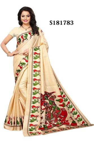 printed khadi silk