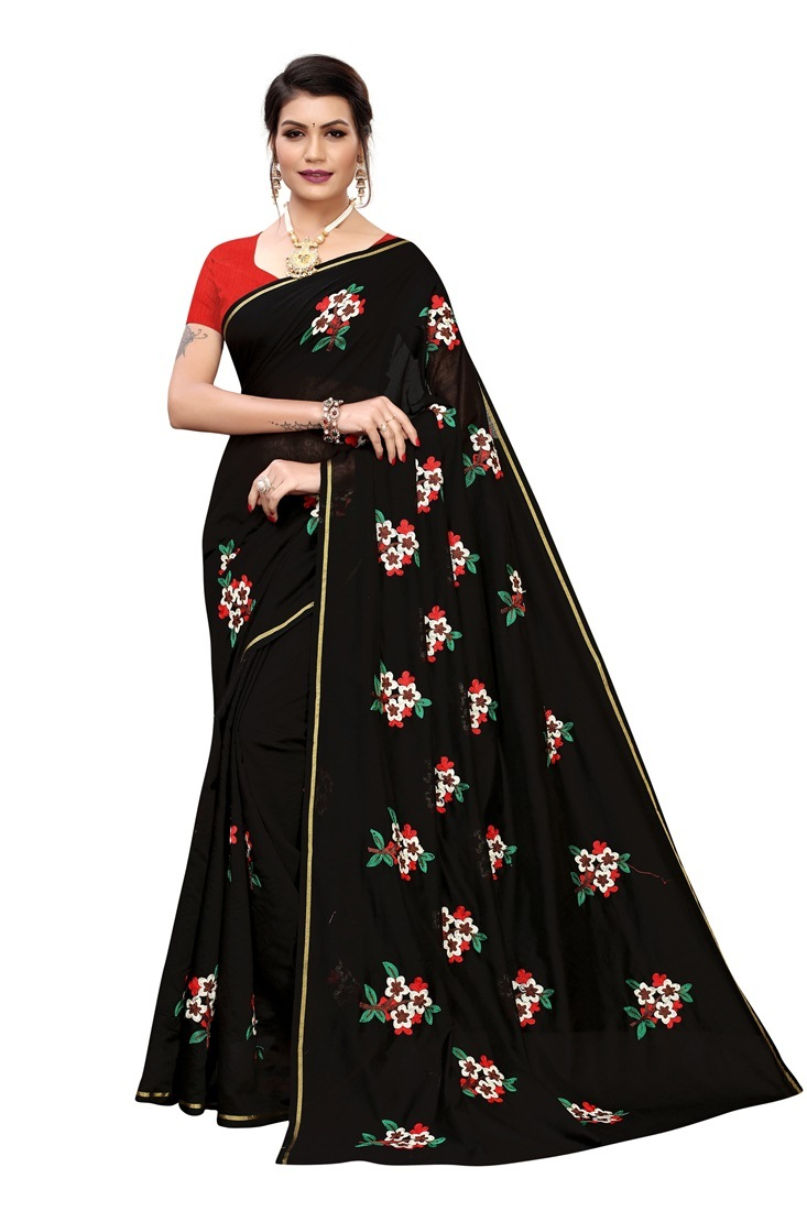 disigner chanderi cotton saree