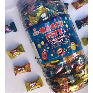 Center Filled Fizzy And Bubbling Candies