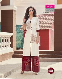 Rayon Cotton Flex Fancy Embroidery Work Classy Prints